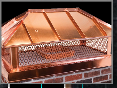 Handcrafted Copper Chimney Cap by Raven Metal Products
